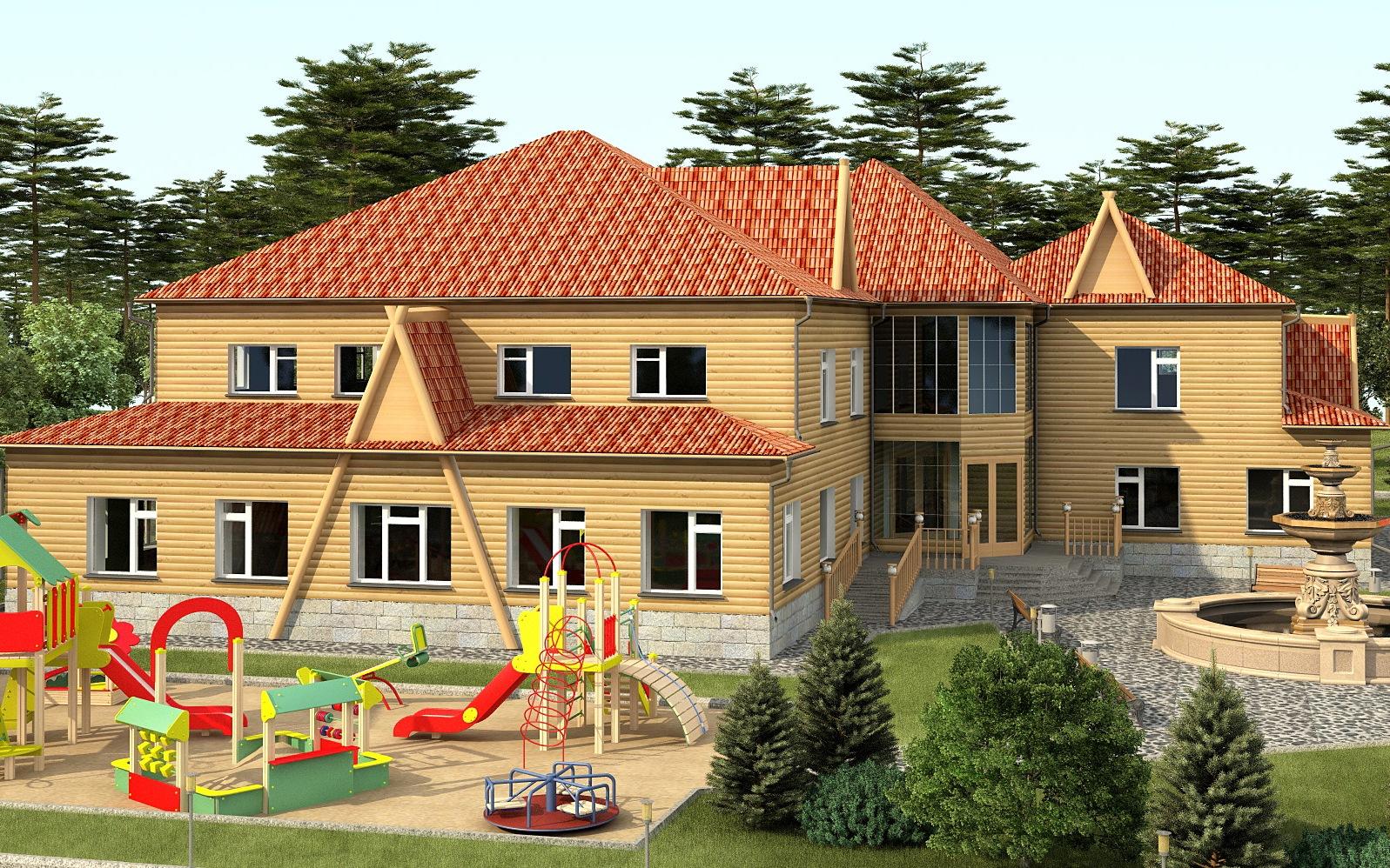 Красивое здание под детсад
