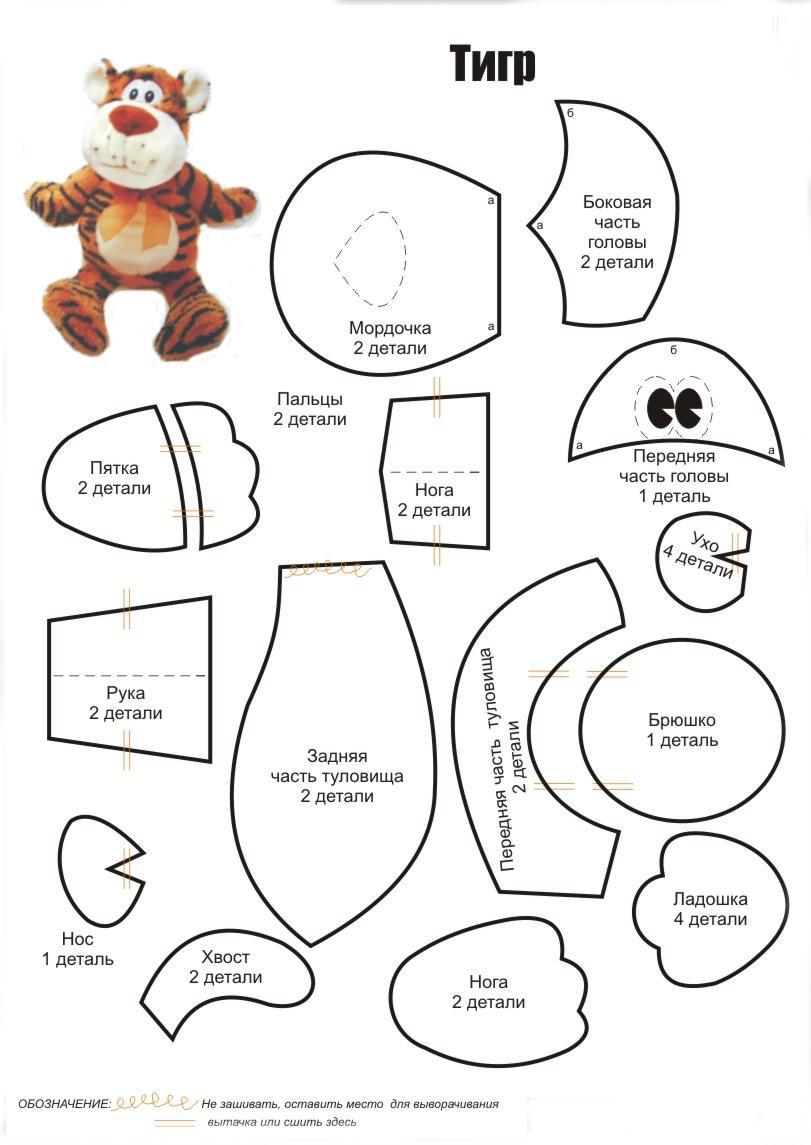 Как делают выкройки игрушек - МЯГКИЕ ИГРУШКИ СВОИМИ РУКАМИ Выкройки мягких игрушек