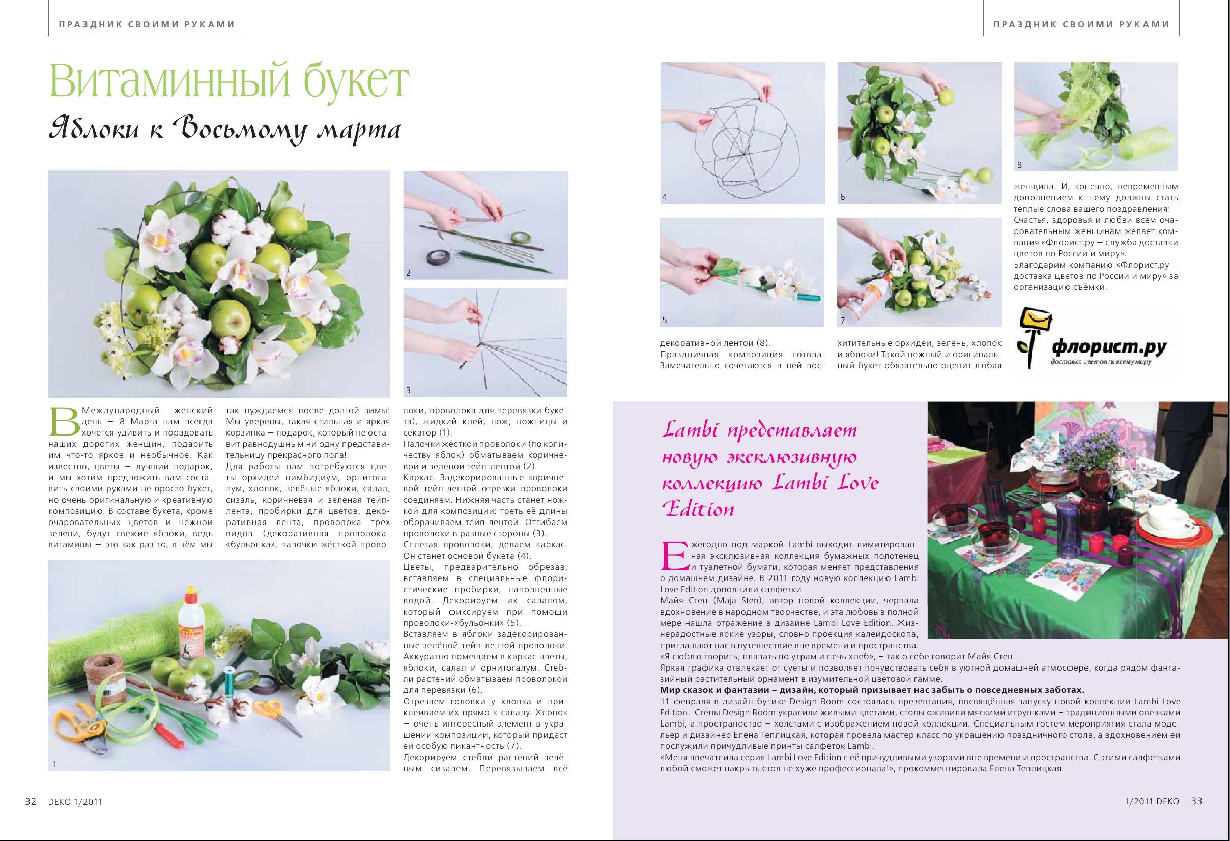 Публикация в женском журнале