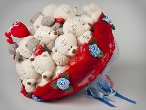Симпатичный набор мишек