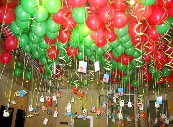 Декор гелиевыми шариками